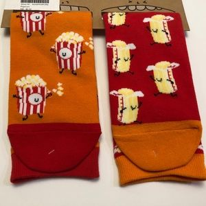 Late Night Snack Crew Socks Butter & Popcorn